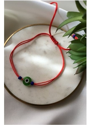 My Joyas Design Yeşil Nazar Boncuğu İp Bileklik & Halhal Renkli